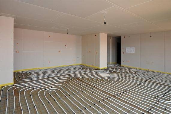Floor Heating in a room